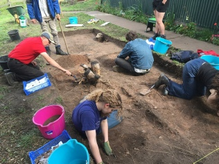 Excavation in Sherwood Forest