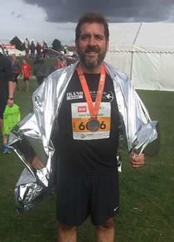 Andy Gaunt Mercian Archaeological Services running the Robin Hood Half Marathon for the Sherwood Forest Archaeology Project fundraising autism aspergers