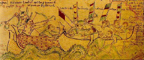 Defeat of the French at the Battle of Sandwich 1217