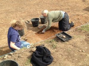 Students at the Archaeology Field School Sherwood Forest
