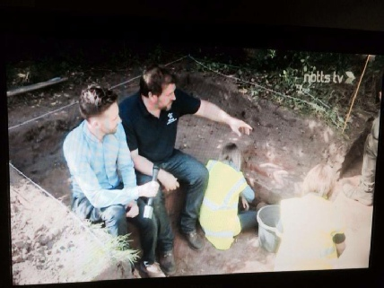 Andy Gaunt Notts TV Robin Hood Archaeology Mercian Archaeological Services